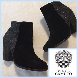 Vince Camino Vo-Habiba Black Suede Booties. Sz 8.5